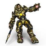 Robô da batalha ilustração stock