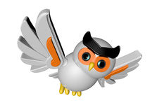 Robô da coruja imagens de stock royalty free