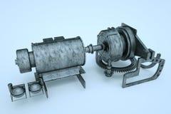 robô da máquina 3D no movimento Rendição 3D agradável Fotografia de Stock