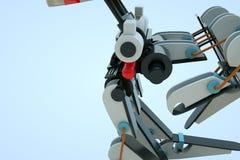robô da máquina 3D no movimento Rendição 3D agradável Imagem de Stock Royalty Free