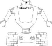 Robô da segurança Fotografia de Stock
