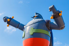 Robô de Gigantor (Tetsujin 28) em Kobe, Japão Fotografia de Stock