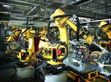 Robô de soldadura Imagem de Stock