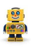 Robô do brinquedo que olha à esquerda Fotos de Stock Royalty Free