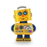 Robô do brinquedo que olha inocentemente Fotografia de Stock Royalty Free