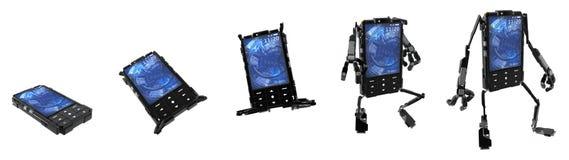 Robô do telefone, desdobrando-se Fotografia de Stock Royalty Free