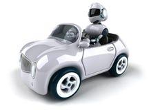 Robô e carro ilustração royalty free