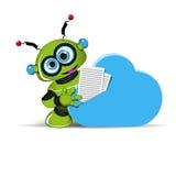 Robô e nuvem Imagens de Stock