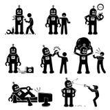 Robô e ser humano ilustração do vetor