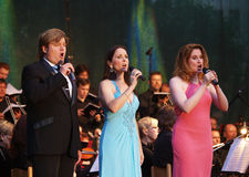 Rob Evan, Anne Runolfsonn and Christiane Noll royalty free stock photos