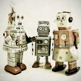 Robô fammily fotos de stock
