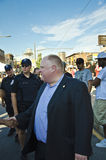 Rob Ford visits Salsa on St.Clair,2012 Stock Images