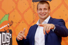 Rob Gronkowski. At the Nickelodeon Kids' Choice Sports Awards 2016 held at the UCLA's Pauley Pavilion in Westwood, USA on July 14, 2016 Royalty Free Stock Photos