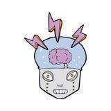 robô inteligente dos desenhos animados ilustração stock
