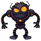 Robô irritado Imagens de Stock Royalty Free