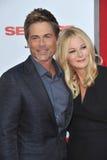 Rob Lowe & Sheryl Berkoff Royalty Free Stock Photo