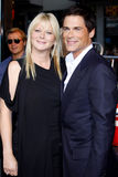 Rob Lowe and Sheryl Berkoff Stock Images
