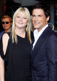 Rob Lowe and Sheryl Berkoff Royalty Free Stock Photo