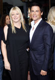 Rob Lowe and Sheryl Berkoff Royalty Free Stock Images