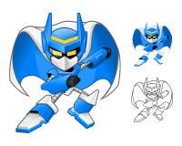Robô Ninja Cartoon Character ilustração stock