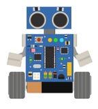 Robô pequeno engraçado Fotos de Stock