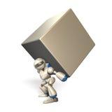 Robô poderoso ilustração stock