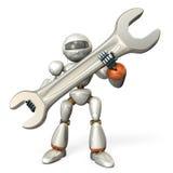 Robô que guarda uma grande chave Foto de Stock