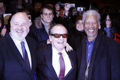 Rob Reiner, Jack Nicholson, Morgan Freeman Royalty Free Stock Images