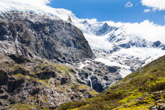 Rob Roy Glacier in New Zealand Royalty Free Stock Photography