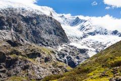 Rob Roy lodowiec w Nowa Zelandia fotografia royalty free