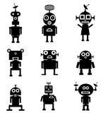 Robôs ajustados Imagens de Stock Royalty Free
