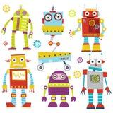 Robôs bonitos Imagens de Stock