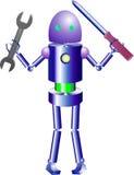Robôs criativos e inteligentes espertos Fotografia de Stock Royalty Free