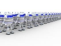 Robôs, 3D Imagens de Stock