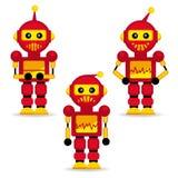 Robôs da coleção na ação Imagens de Stock