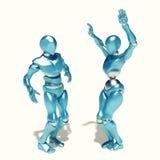 Robôs da dança ilustração do vetor