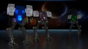 Robôs de espaço Fotos de Stock
