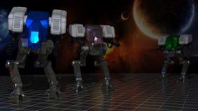 Robôs de espaço Fotografia de Stock