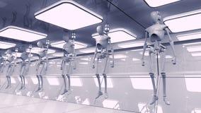 Robôs do SCIFI Fotografia de Stock Royalty Free