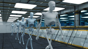 Robôs do SCIFI Foto de Stock Royalty Free