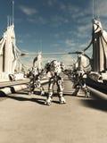 Robôs estrangeiros da batalha - irmãos nos braços Foto de Stock Royalty Free