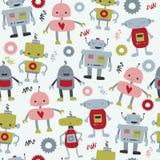 Robôs sem emenda Imagem de Stock Royalty Free