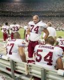 Rob Selby #74, Chris Dishman #67 e Aaron Graham #54 degli Arizona Cardinals Fotografie Stock Libere da Diritti