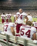 Rob Selby #74, Chris Dishman #67 och Aaron Graham #54 av Arizona Cardinals Royaltyfria Foton