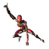 Robô vermelho isolado Imagem de Stock Royalty Free