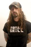 Rob Zombie appearing at CD USA. Rob Zombie backstage at CD USA royalty free stock images