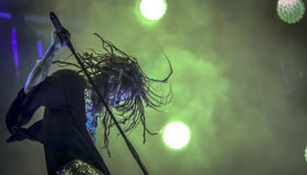 Rob Zombie bor i konserten 2017 Arkivfoton