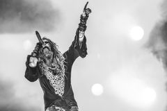 Rob Zombie levande konsert 2017 Arkivbilder