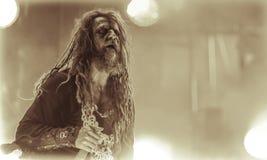 Rob Zombie levande konsertheavy metal 2017 Fotografering för Bildbyråer