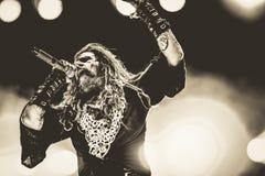 Rob Zombie levande konsertheavy metal 2017 Arkivfoto
